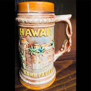 Hawaiian Stein Mug Hawaii Tiki Luau Iolani Palace
